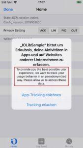 iOS 14 App-Tracking alert